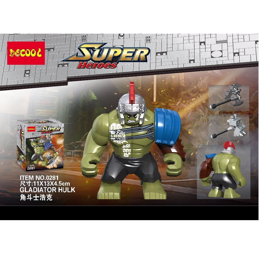 Decool 0281 Superheroes 8.5cm Big Man Size Hulk buster Building Blocks Bricks For Children Gift Toys FIT for LEGO for Minifigure