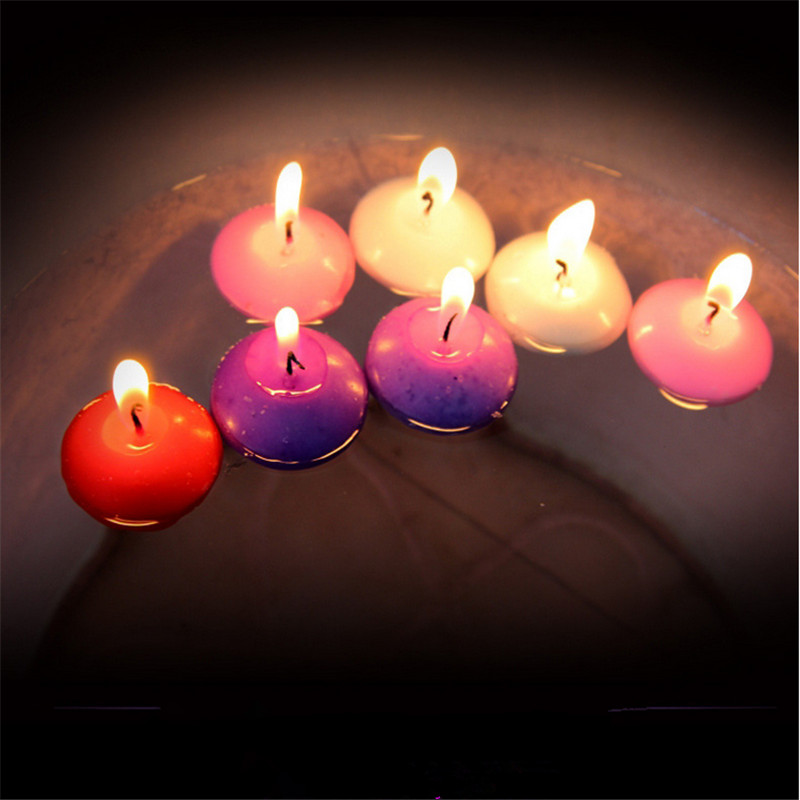 5pcs Floating on The Water Candles Cake Cute Candle Kids Party DIY Creative Candles Decoration Wedding Favors and Gifts -B
