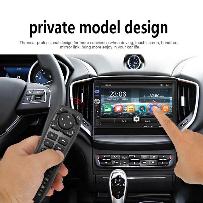 7038B 2Din Car MP5 No Camera/with Camera USB Player Bluetooth 7inch Car Stereo MP5 Player FM Radio Bluetooth USB Head Unit