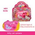 Câmeras de brinquedo ABS rosa Bonito câmera câmeras de brinquedo de 18*4*18 CM Do Bebê boa qualidade de alterar imagens contar a história bom presente para as crianças gatinho