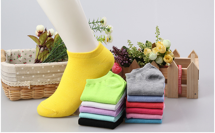 1 Pair=2pieces 2017 New Summer Candy Color Women Short Ankle Boat Low Cut Socks Crew Casual 12 Colors Calcetines Mujer