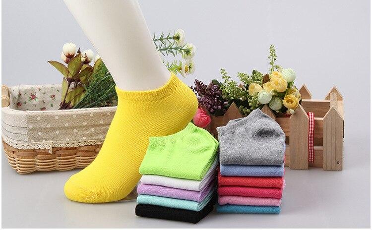 1 Paar = 2 Stück 2017 Neue Sommer Süßigkeiten Farbe Frauen Kurze Ankle Boot Low Cut Socken Crew Casual 12 Farben Calcetines Mujer SchnäPpchenverkauf Zum Jahresende