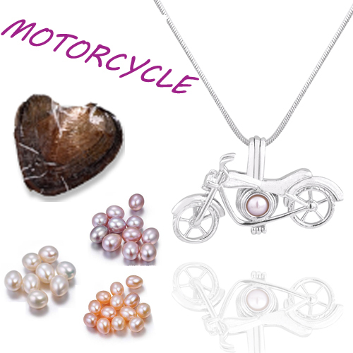 Glove cage pendant Silver Plated with Vacuum oyster pearl great Fashion mix Style Jewelry Valentine's day meaning present  PO148 3