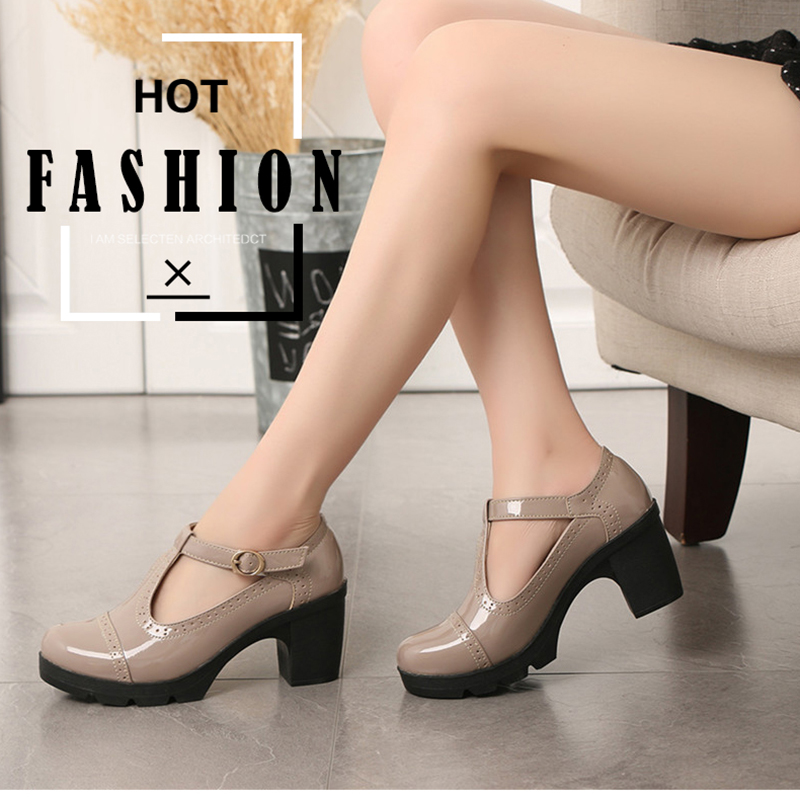 Cuculus 2019 Women Shoes High Heels Casual Mary Jane Platform Shoes Zapatos Mujer Office Party Banquet Chaussures Femme 1081 high heels
