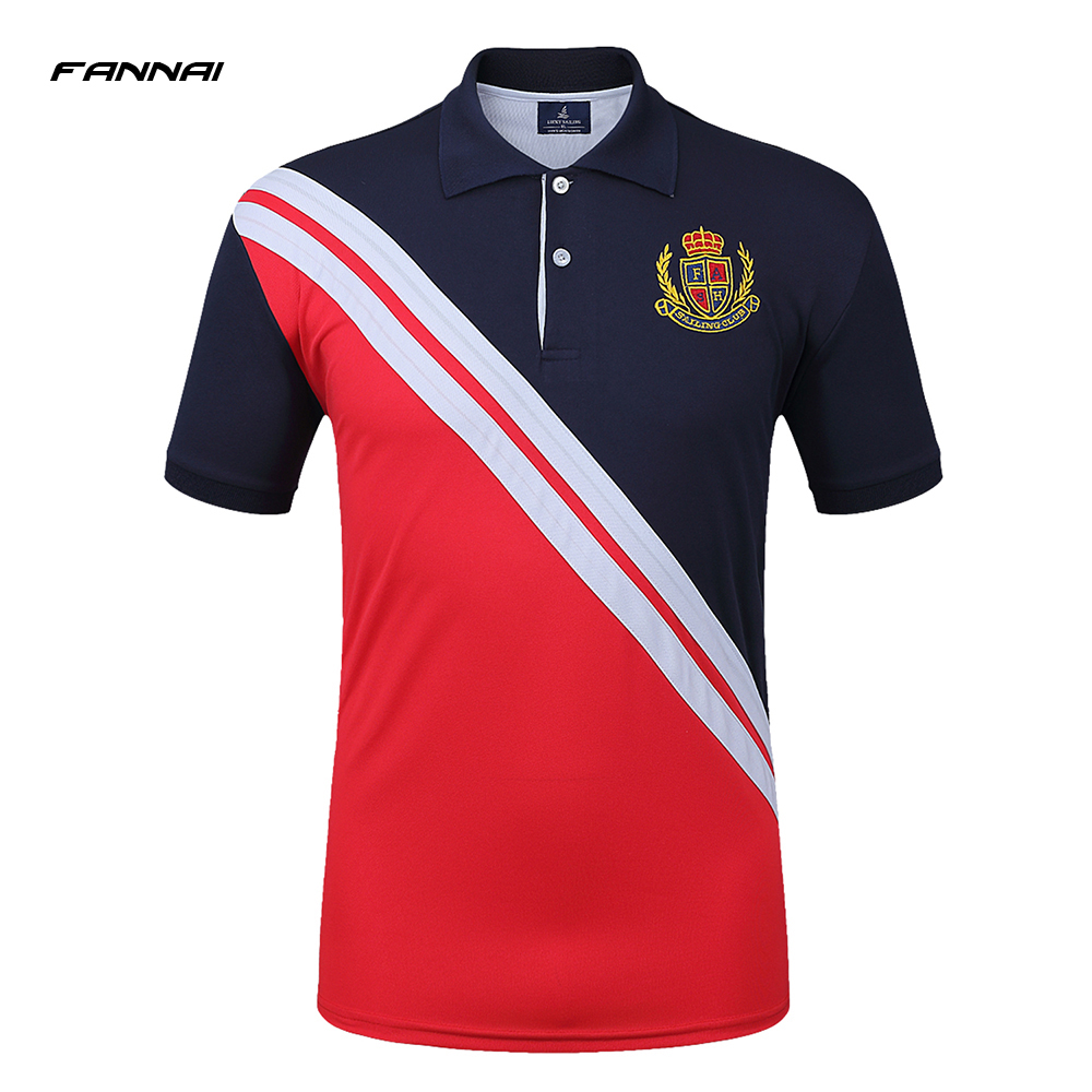 High Quality Brand Summer Short Sleeve   Polo   Shirt Men Fashion Embroidery Casual Shirts Cotton Tops Tees Slim Fit Soccer Shirts