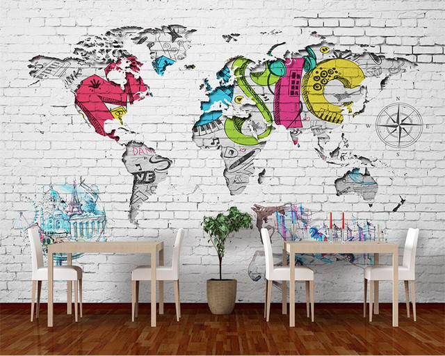 Beibehang 3d wallpaper art painting hand painted wall paper world beibehang 3d wallpaper art painting hand painted wall paper world map nordic graffiti backdrop decorative wallpaper gumiabroncs Choice Image