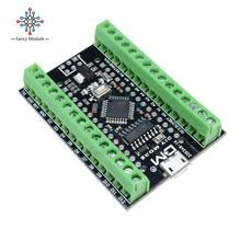 Atmega328P Nano 3,0 CH340 USB Драйвер+ терминал адаптер плата расширения 2 в 1 для Arduino