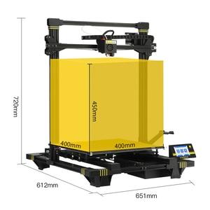 Image 5 - ANYCUBIC כירון 3d מדפסת ענק לבנות נפח 400x400x450mm אוטומטית פילוס כפולה Z ציר 3d מדפסת ערכת impresora 3d דרוקר