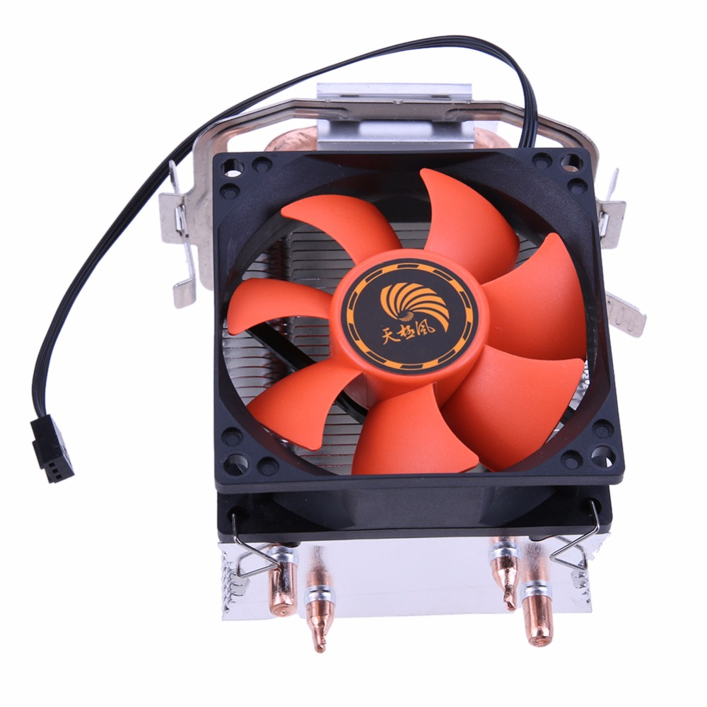 CPU Cooler Double Heatpipe Radiator CPU Cooling fan for Intel LGA775/1155/1156 For AMD /AM2/AM2+/AM3 80*80*25 mm deepcool mini cpu cooler 2pcs 8025 fan double heatpipe radiator for intel lga 775 115x for amd 754 940 am2 am3 fm1 fm2 cooling