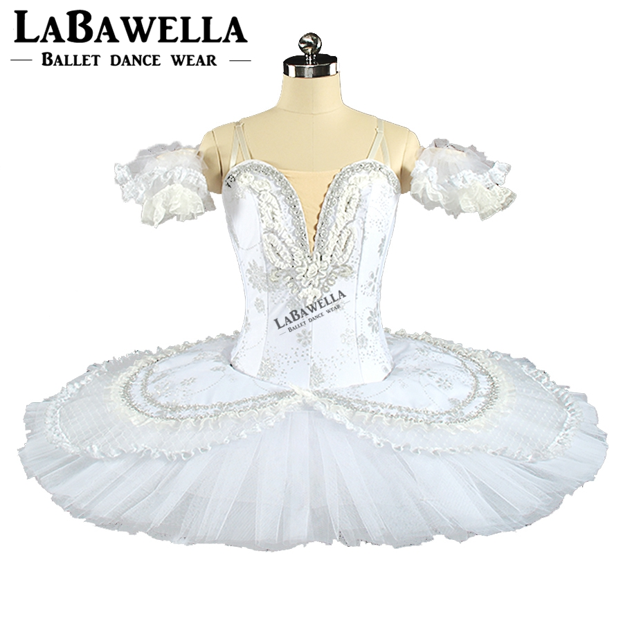 Blanc Snow Queen Plateau Costume Femmes BT9143B Casse-Noisette Professionnel Tutus Blanc Swan Sleeping Beauty Scène De Ballet Tutu