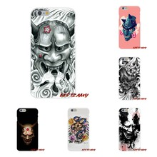 Accessori Casse Del Telefono Copertine Giapponese Oni Hannya Demone Maschera Mobile Per iPhone X 4 4 S 5 5 S 5C SE 6 6 S 7 8 Plus(China)