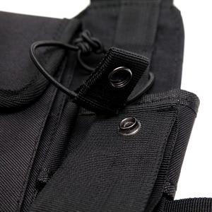 Image 4 - Нагрудный ремень для радиоприемника, нагрудная сумка для передней сумки, кобура, жилет для переноски парча для двухсторонней радиосвязи Baofeng TYT d xun Moto Walkie Talkie