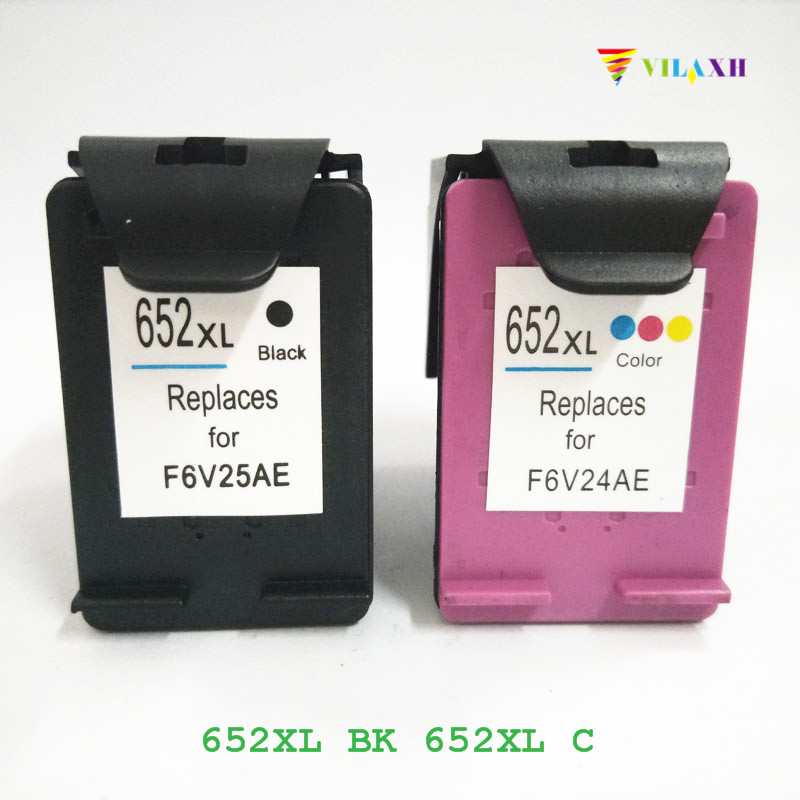 vilaxh <font><b>652</b></font> Compatible <font><b>Ink</b></font> <font><b>Cartridge</b></font> Replacement for <font><b>HP</b></font> <font><b>652</b></font> xl 652xl For Deskjet advantage 1115 1118 2135 2136 2138 3635 Printer image