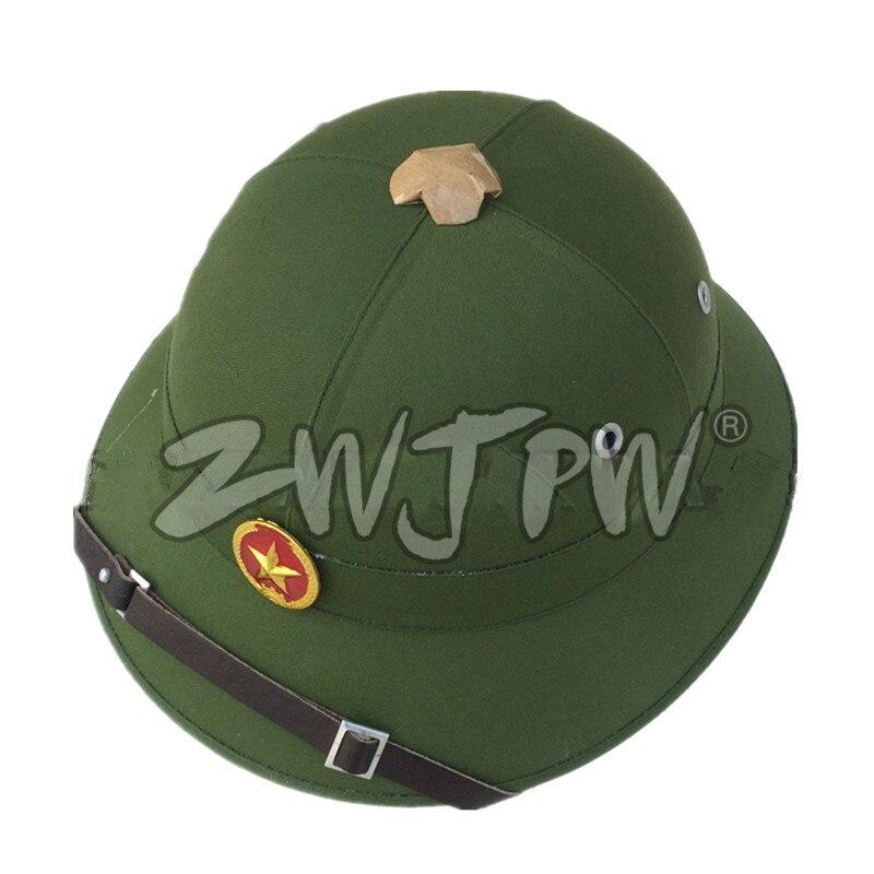 Prix pour WW2 Troupes Vietnamiennes Cool Casque Vert En Plein Air Chapeau VN/107105