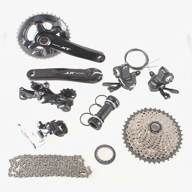 US $413 18 5% OFF|SHIMANO DEORE XT M8000 2x11 22S Speed 38/28T 36/26T 170mm  11 42T MTB Mountain Bike Groupset-in Bicycle Derailleur from Sports &