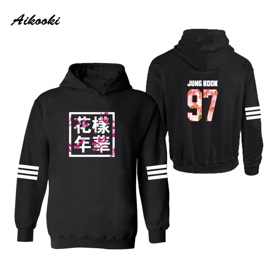 Aikooki BTS Hooded Hoodies Women Winter Casual Idol Team Sweatshirt Mens Cotton Fashion Korean Popular Bangtan polluvers Clothes