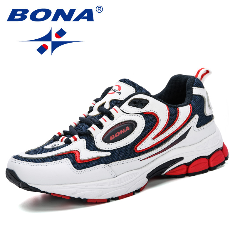 BONA 2019 Outdoor Sport Shoes Men Sneakers Shoes Running Shoes Comfy Men Brand Anti-Skid Off-Road Jogging Walking Trainers Male