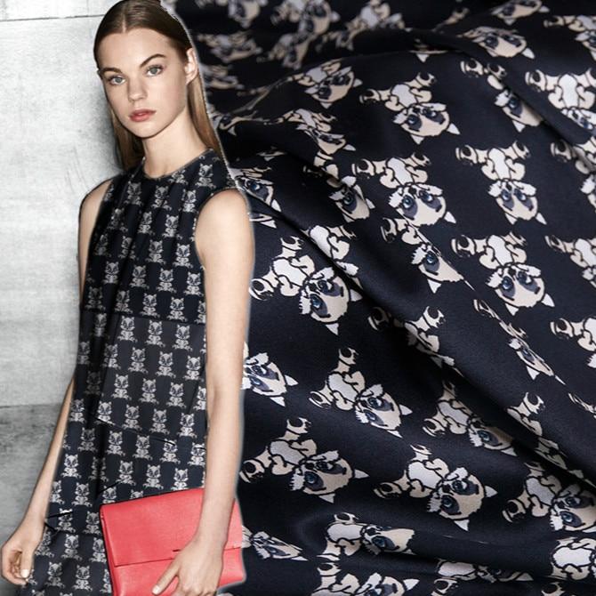 140cm stretch silk satin fabric 19 momme shirt dress silk fabric abstract plaid print fabric satin wholesale silk cloth
