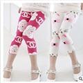 Envío gratis 2016 venta caliente verano de los cabritos séptimo fashion girls leggings niños pantalones de la muchacha legging pantalones