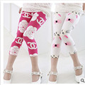 Free shipping 2016 hot sale kids summer 7th fashion girls leggings  kids pants girl legging pants