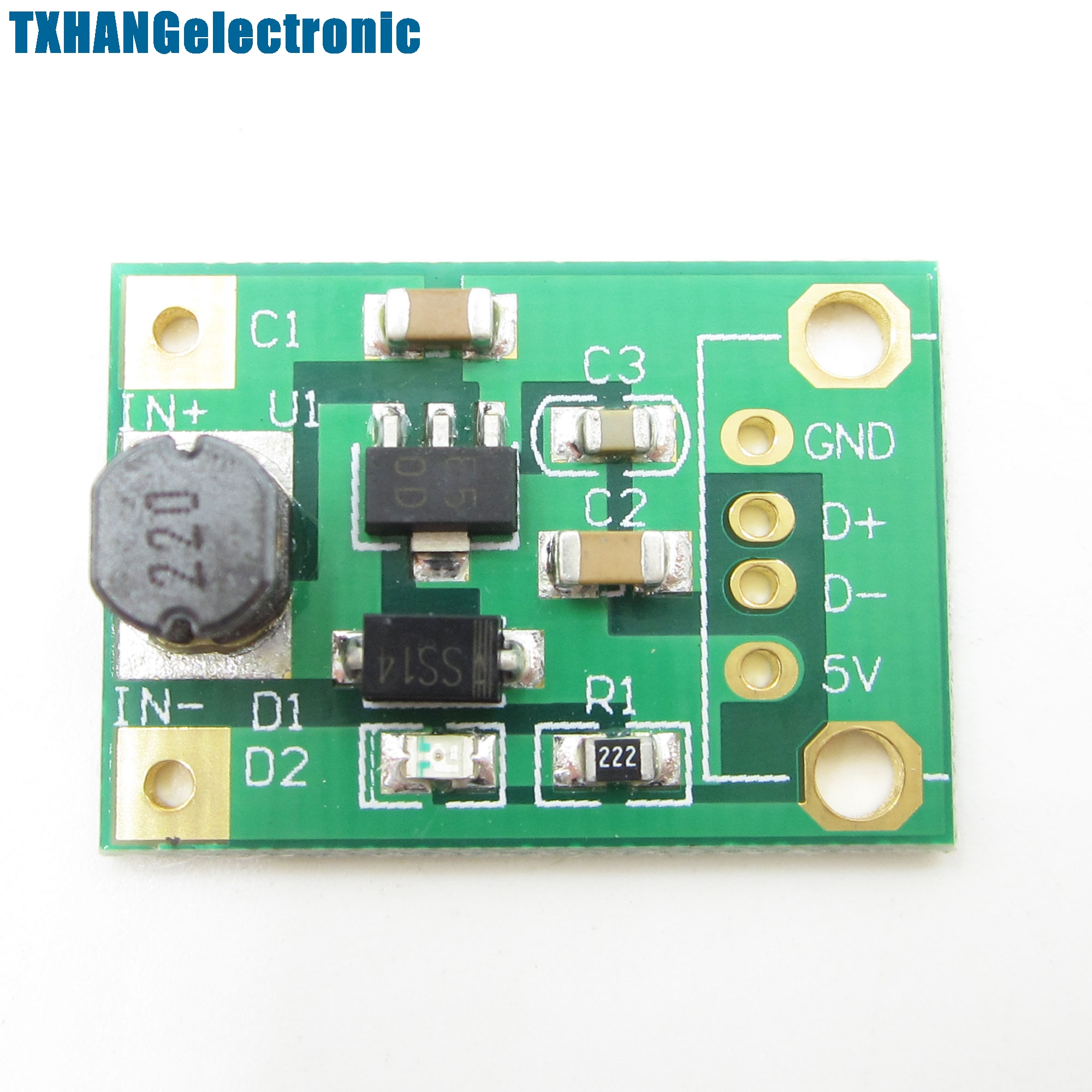 5PCS DC-DC Boost Converter Step Up Module 1-5V to 5V 500mA Power Module voltage converter ...