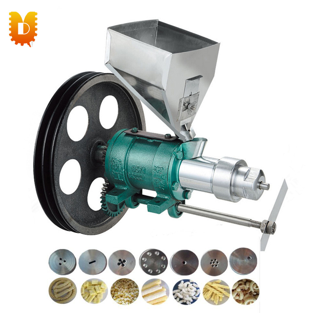 Auto corn/rice puffing machine Multifuction cereal bulking machine Puffed snack food extruder making machine 6molds snack food corn puffed extruder making machine rice corn extruder 100 120kg h extrusion making machine with motor