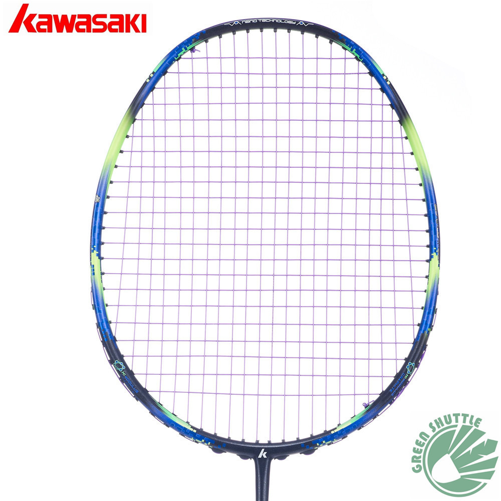 Only 73g 6U Kawasaki Super Light 680 580 Badminton Racquet 30T Aerofoil Frame  Racket 100% Carbon With Free Grip
