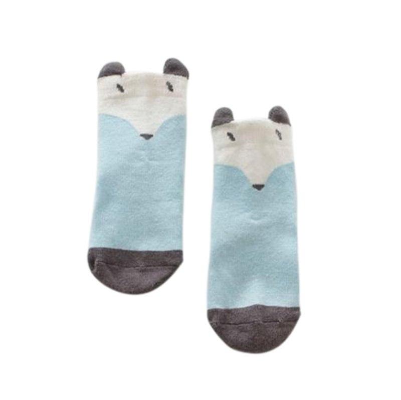Children Cartoon Cotton Fox Cat Printed Anti-slip Knee Socks