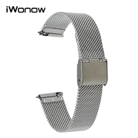 16mm 18mm 20mm 22mm Quick Release Watch Band For Cariter Breitling IWC TAG Heuer Milanese Stainless