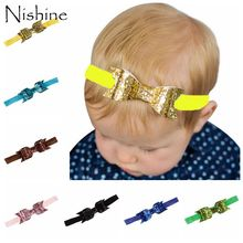 1PCS Fashion Cute Girls Bling HairBand Double Big Bow Knot Shining Headband Headware Children Hair Accessories