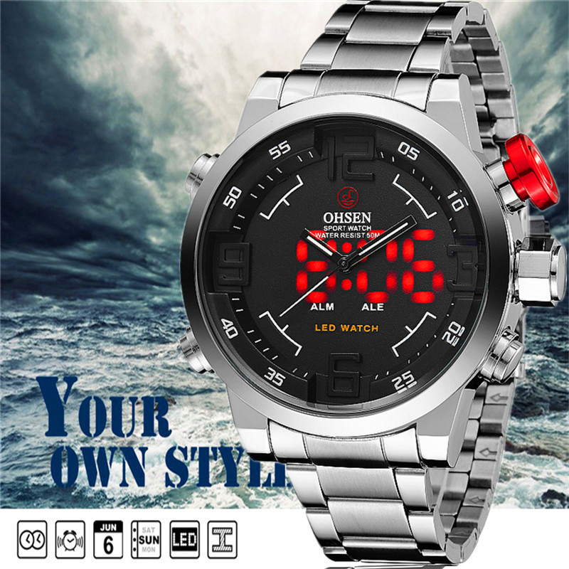 Original man luxury promotion gift waterproof digital Military Watches men s fashion big dial sports Noctilucent