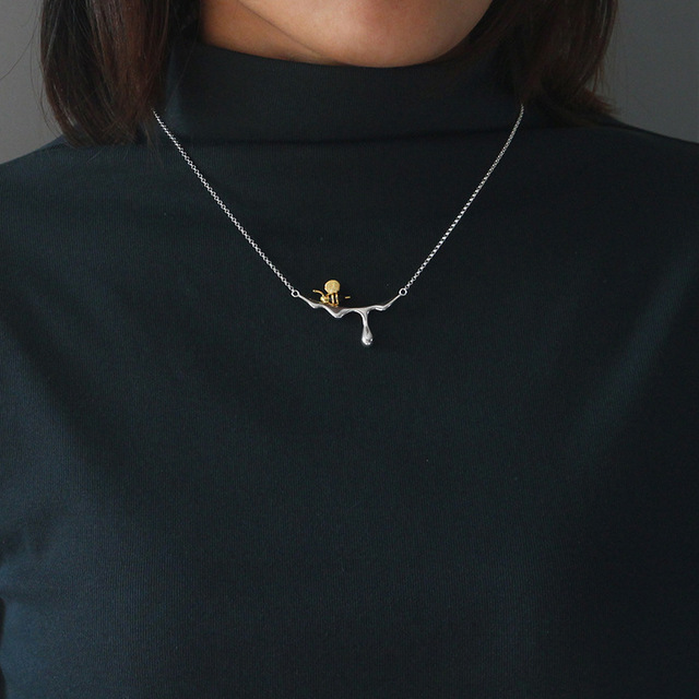 Honey and Bee 925 Sterling Silver Choker Necklace5