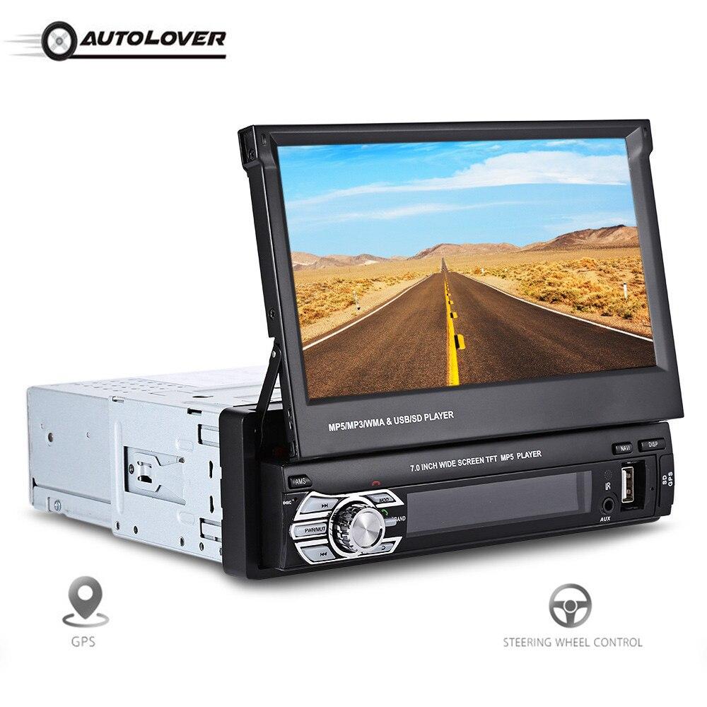 Universal 9601G 7.0 inch HD GPS Navigation Car Multimedia Player Bluetooth FM Radio Car MP5 Player with Steering Wheel Control 336dg universal 6 2 screen dvd player w radio gps navigation bluetooth steering wheel control