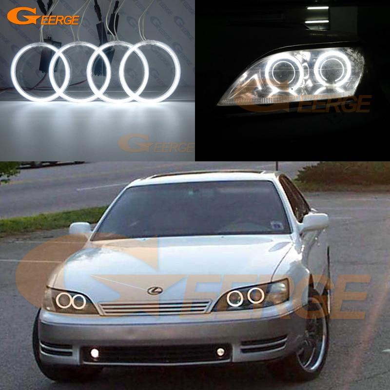Для Lexus ES300 Тойота windom 1992 1993 1994 1995 1996 отлично Ультра-яркий освещения CCFL Ангел глаза комплект гало кольцо
