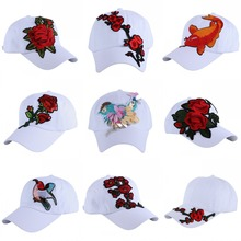 women girl brand baseball cap brand hat high quality rose floral Hummingbird design casual woman luxury snapback casual hats