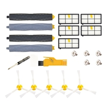 Replacement Parts For Irobot Roomba 860 880 805 860 980 960 Vacuums,5 Pcs Hepa Filter, 5 Pcs 3-Armed Side Brush, 2 Set Tangle- 5x side brushes 5x filters replacement for irobot roomba 800 900 860 880 980 960 870 robotic cleaner parts accessories