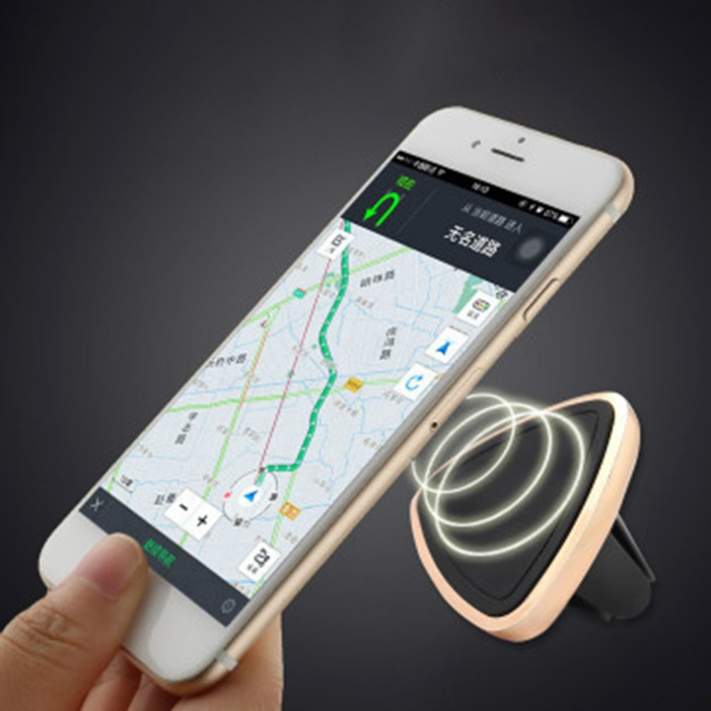 Universal Phone Holder Air Vent Stand Magnetic Car GPS Holder 360 Rotation Mount Cradle support telephone voiture for yotaphone3