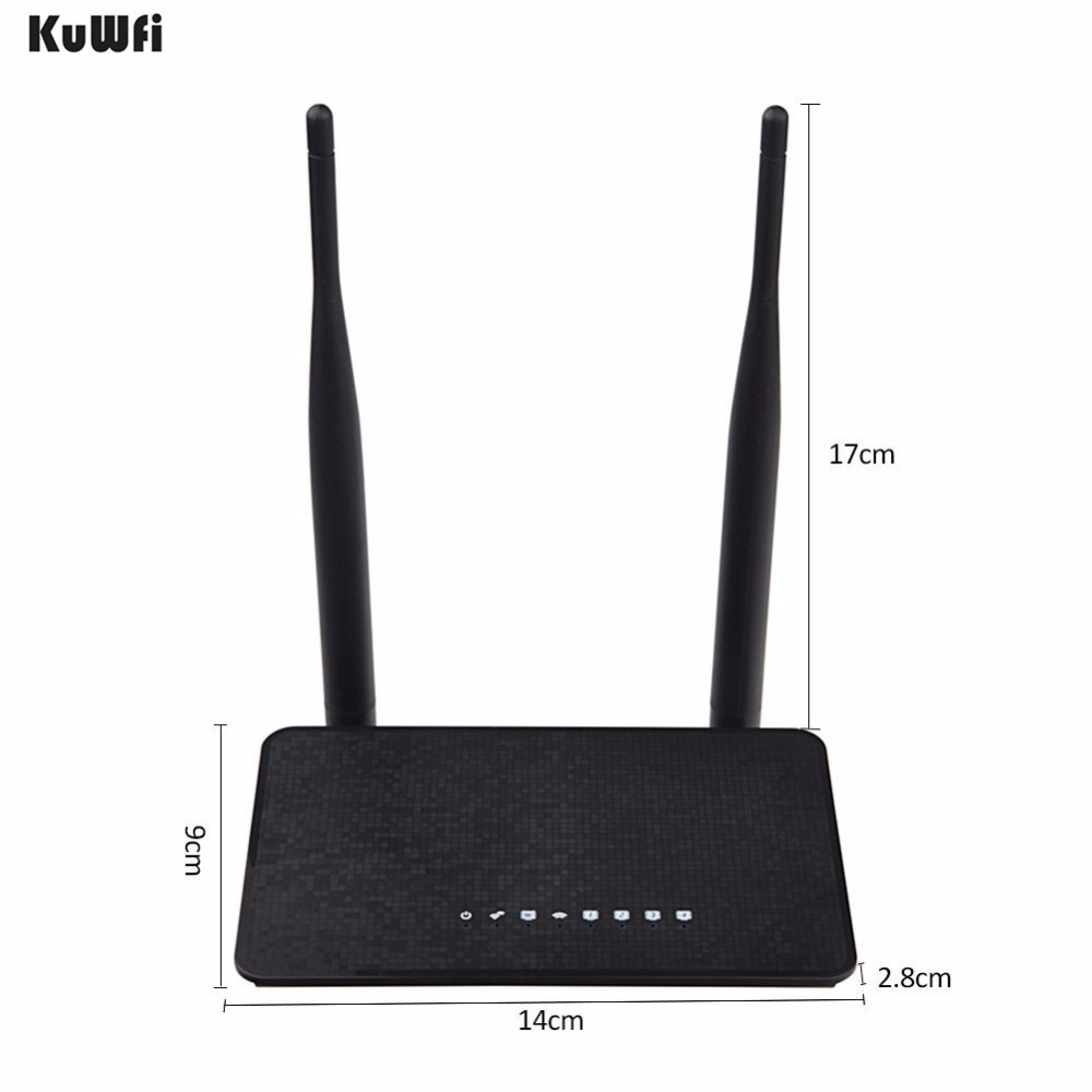 Image 2 - KuWFi 300Mbps Wireless Router MT7628KN Chipset Wifi Repeater 2.4Ghz Smart Wifi Router With 2Pcs Antenna With English Version-in Wireless Routers from Computer & Office