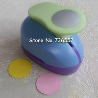 Free Shipping 3 7 1cm Wave Circle EVA Foam Punches Paper Cutter For Greeting Card Handmade