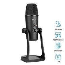 BOYA BY PM700 USB Condenser Microphone Desktop MIC for PC Computer Laptop Mac Interview Conferen Recording Video Podcast Live