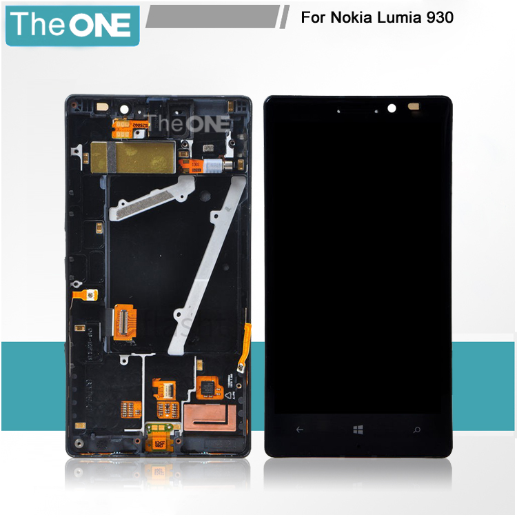 ФОТО Mobile Phone LCD Screen + Touch Screen Digitizer Assembly with Frame Repair Set for Nokia Lumia 930