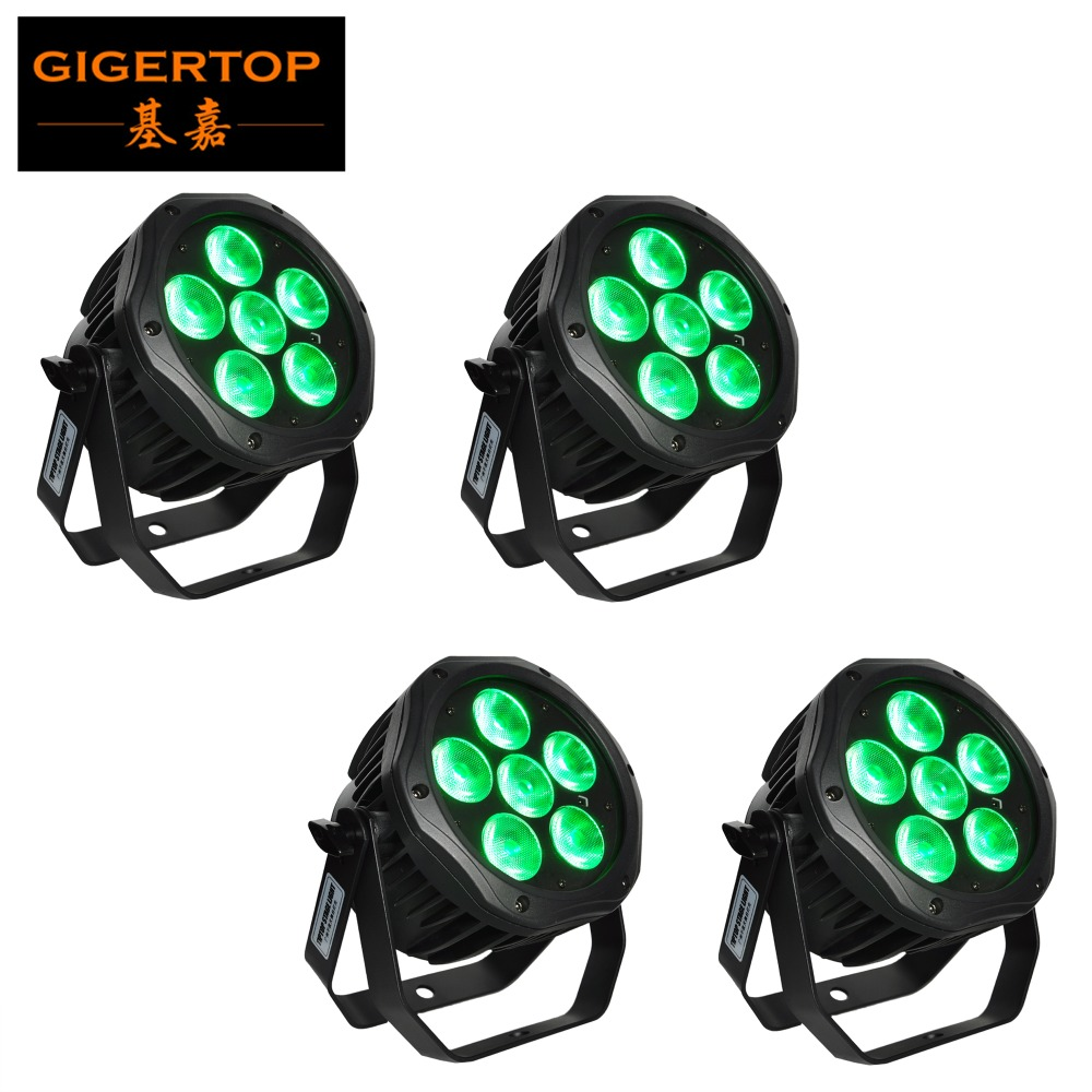 Freeshipping 4 Pack Outdoor 6 X 18W Battery Powered Wireless Stage Led Par Light Aluminum Housing No Fan No Noise No Flicker