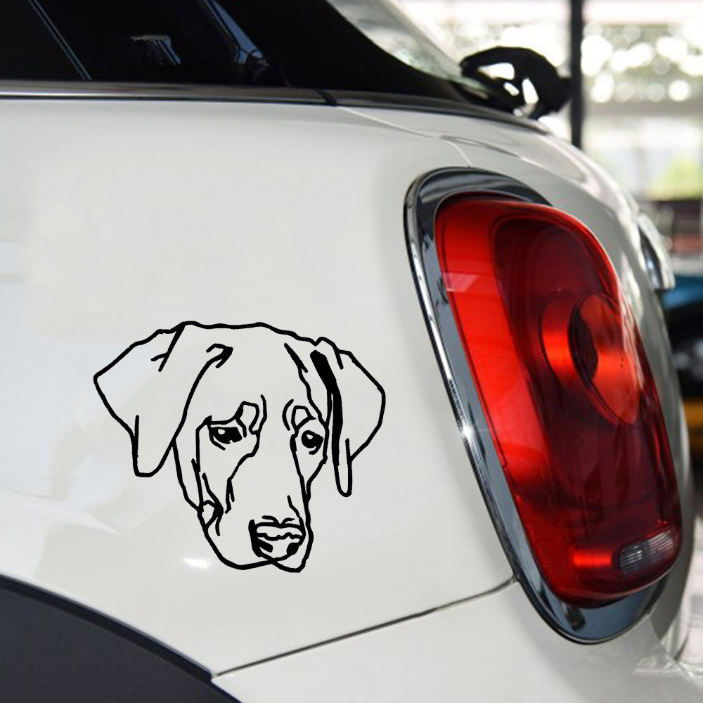 Us 2 74 39 Off 12 10cm Car Stickers Labrador Labi Dog Sticker Animal Cute Decor Accessories Jdm Vinyl Decals In From