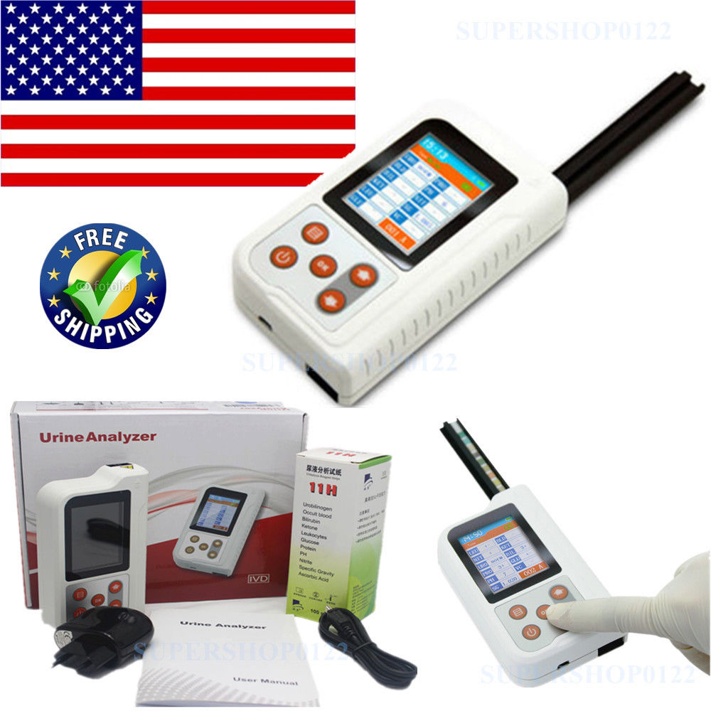 Bluetooth ANALYSEUR D'URINE BC401 2.4 ''LCD MicroUSB Moniteur 11 Paramètres + 100 pièces Bandelettes de Test CONTEC
