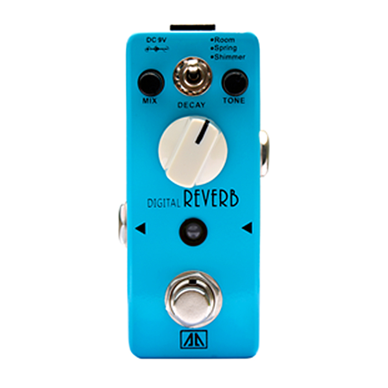 Digital Reverb Guitar Effect Pedal Mix Tone Decay Control Effects for Electric Guitar  True bypass AA Series mooer wood verb reverb digital effects acoustic guitar effect pedal tiny size true bypass mrv3