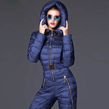 Warm thicker White Duck Down women winter clothing winter thick suit down jacket down pants female Siamese parka outerwear TT281