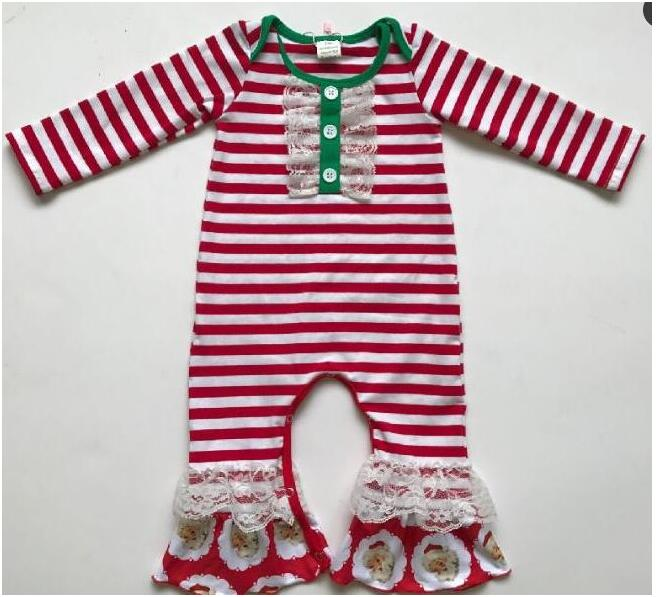 Kaiya Angel Newborn Baby Lace Christmas Jumpsuit Boy Girl Rompers Hot Fall Winter spring Fall Factory