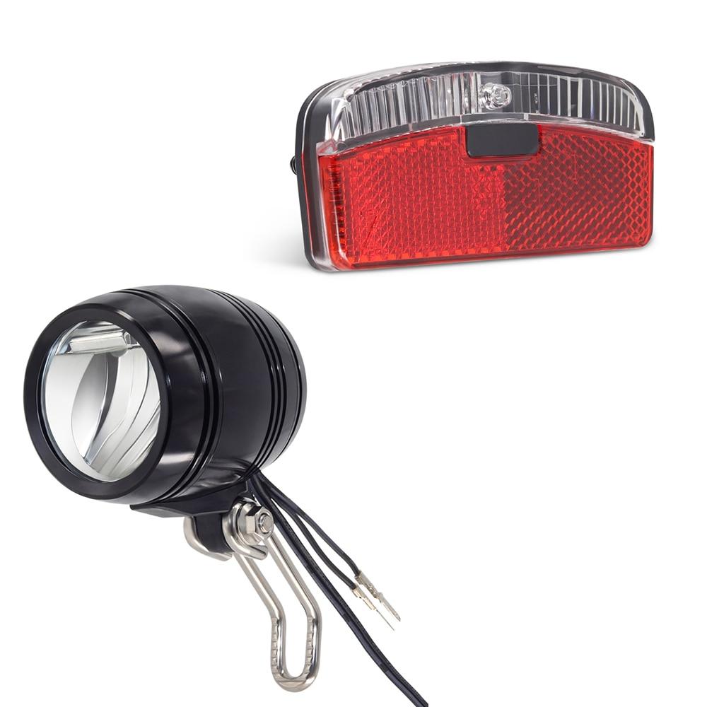 Onature Dynamo Bike Light Set Both With Parking Light Input AC 6V Headlight And Rear Light Easy To Install Led Bicycle Dynamo Light