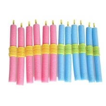 12pcs/lot Foam Curler Popular Magical Anion Hair Curler Soft Pearl Sponge Hair Care Styling Roll Stick Roller Curler