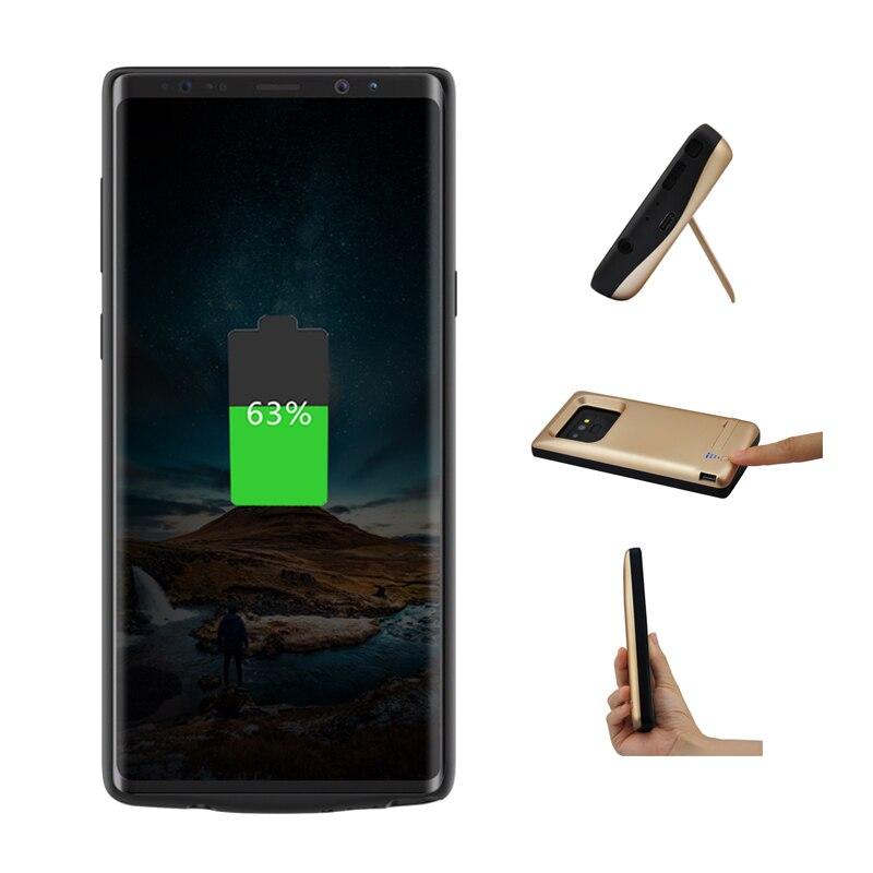 Pour Samsung Galaxy Note 9 5000 mAh batterie portative externe chargeur pack batterie housse de téléphone Support Support Support pour voiture